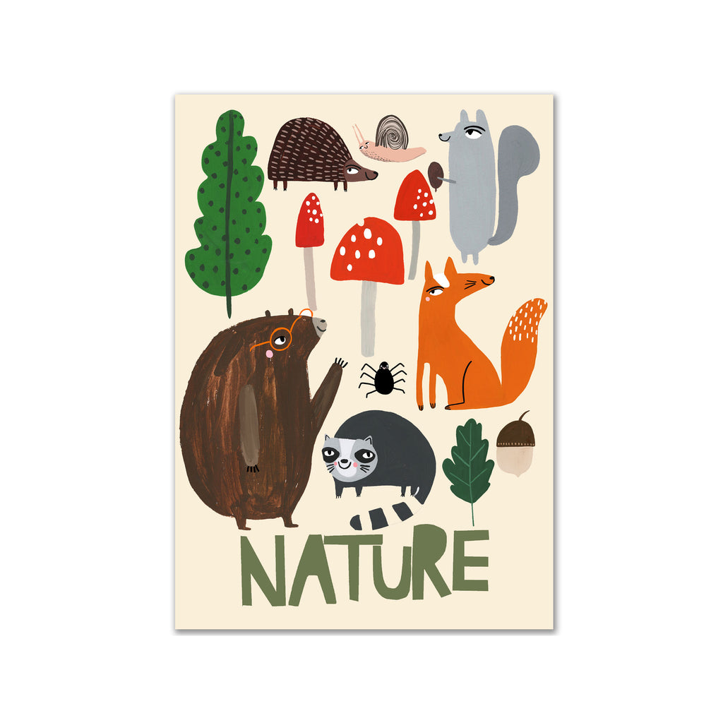 Nature A3 Print by Yayastudio, available at Bobby Rabbit. Free UK Delivery over £75