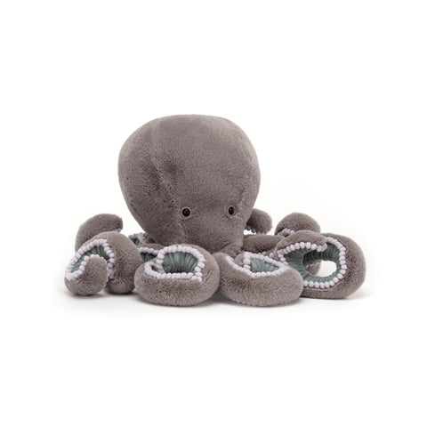 Neo Octopus Soft Toy, designed and made by Jellycat and available at Bobby Rabbit. Free UK Delivery over £75