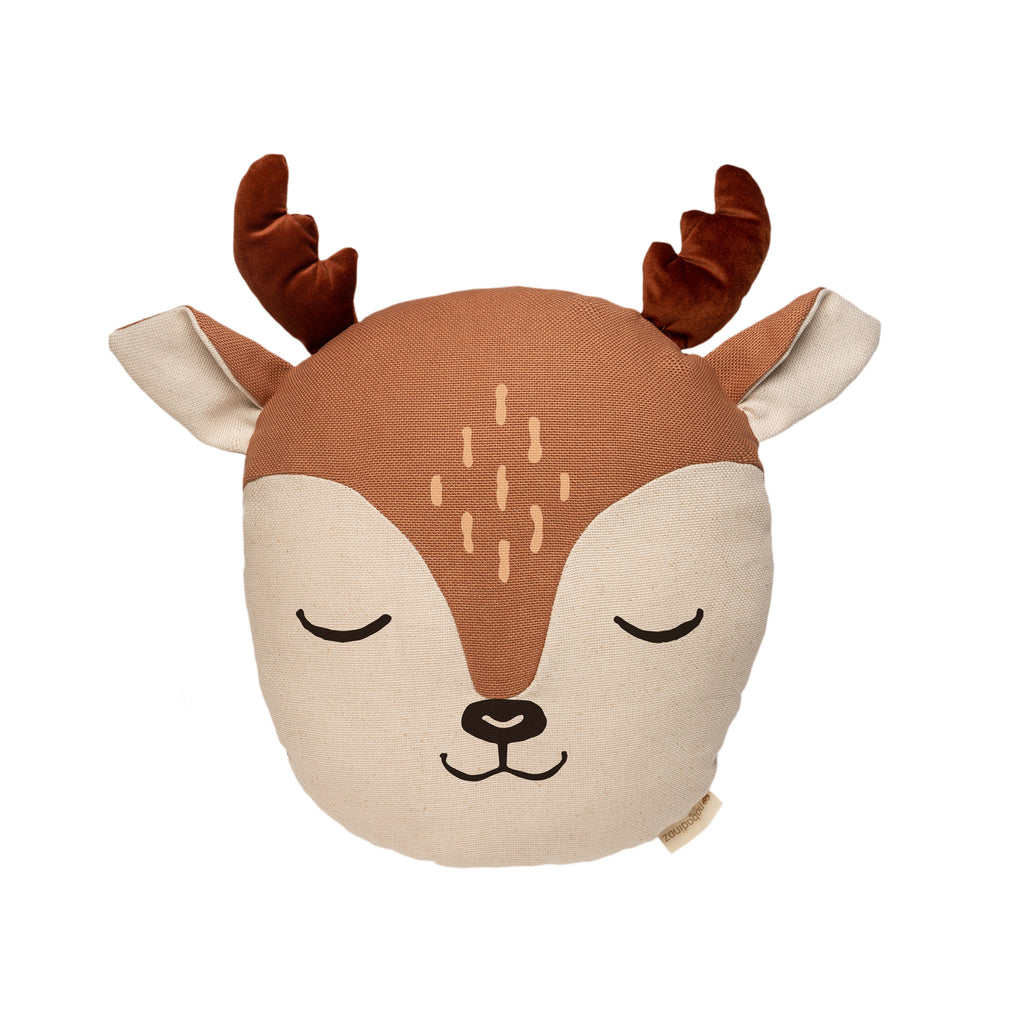 Deer Cushion by Nobodinoz, available at Bobby Rabbit. Free UK Delivery over £75
