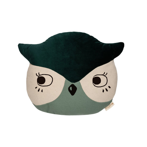 Owl Cushion by Nobodinoz, available at Bobby Rabbit. Free UK Delivery over £75