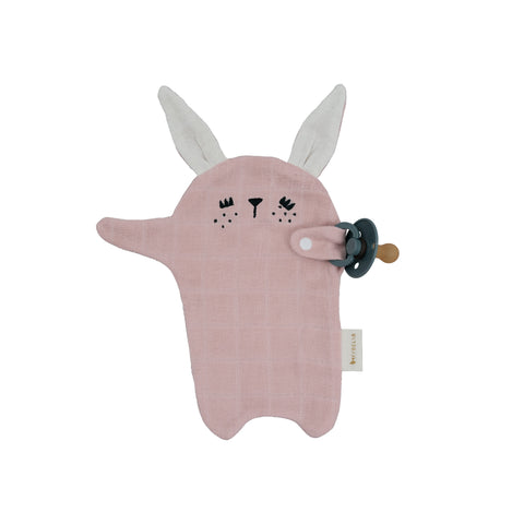 Pacifier Cuddle Toy - Bunny by Fabelab, available at Bobby Rabbit. Free UK Delivery over £75