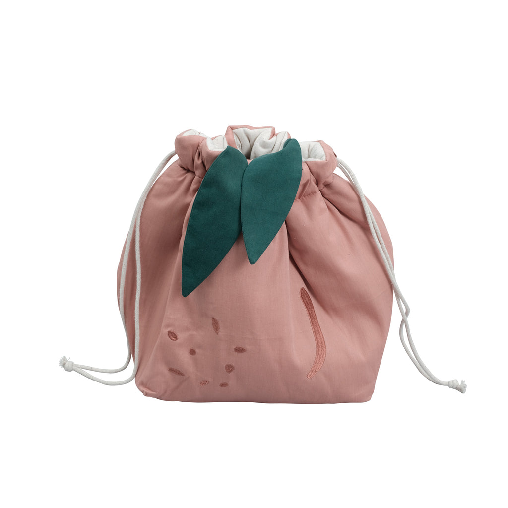 Peach Storage Bag by Fabelab, available at Bobby Rabbit.