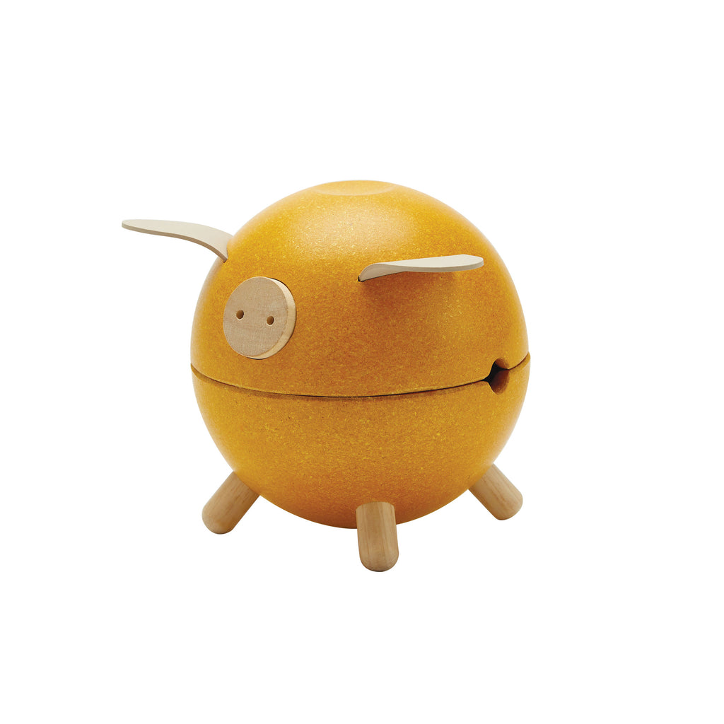 Yellow Piggy Bank by Plantoys, available at Bobby Rabbit. Free UK Delivery over £75