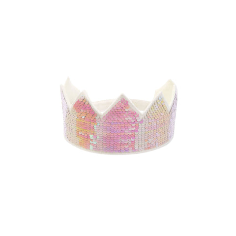 Reverse Sequin Party Crown by Meri Meri, available at Bobby Rabbit.