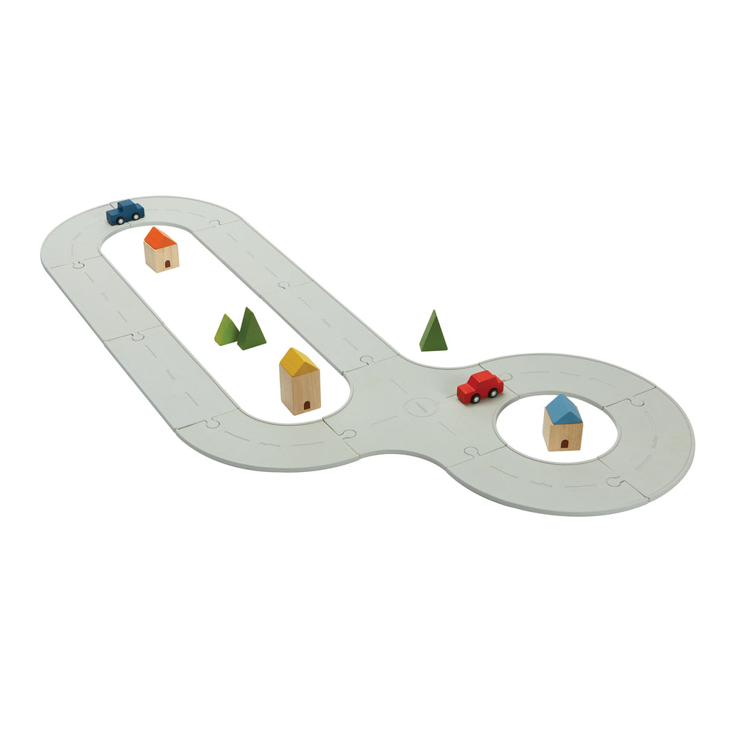 Road and Rail Track Set by Plantoys, available at Bobby Rabbit.