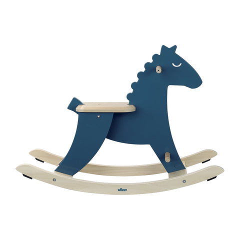 Blue Rocking Horse by Vilac, available at Bobby Rabbit.