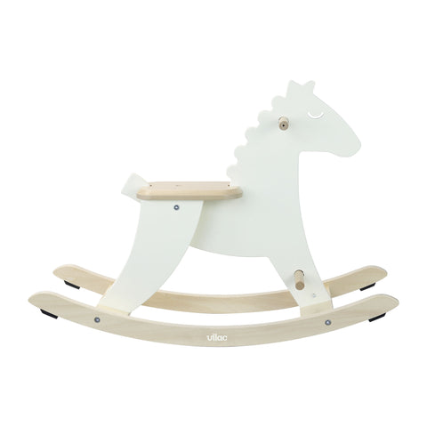 White Rocking Horse by Vilac, available at Bobby Rabbit.