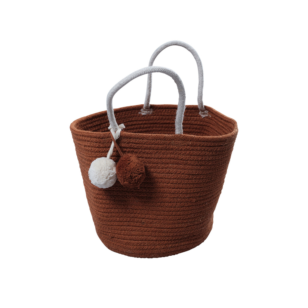 Rope Storage Basket - Cinnamon by Fabelab, available at Bobby Rabbit. Free UK Delivery over £75