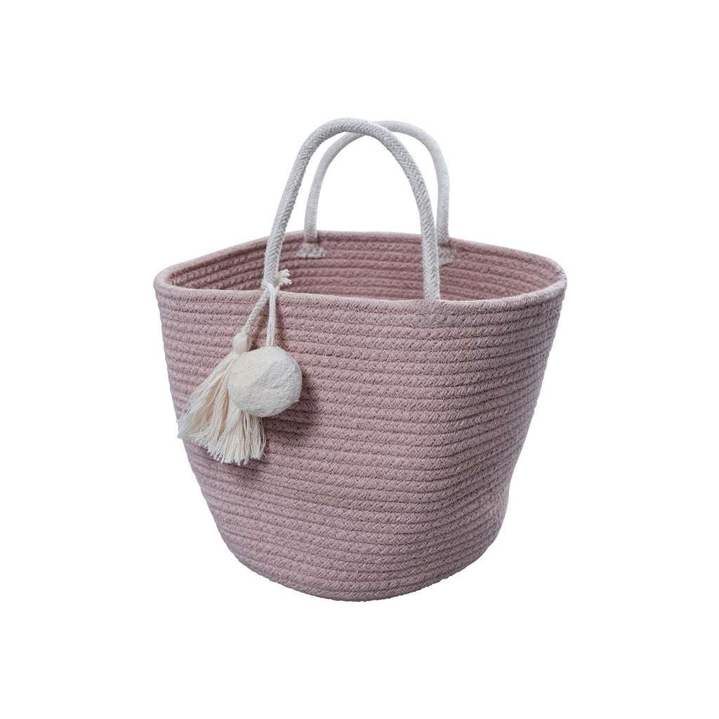 Rope Storage Basket - Mauve by Fabelab, available at Bobby Rabbit. Free UK Delivery over £75