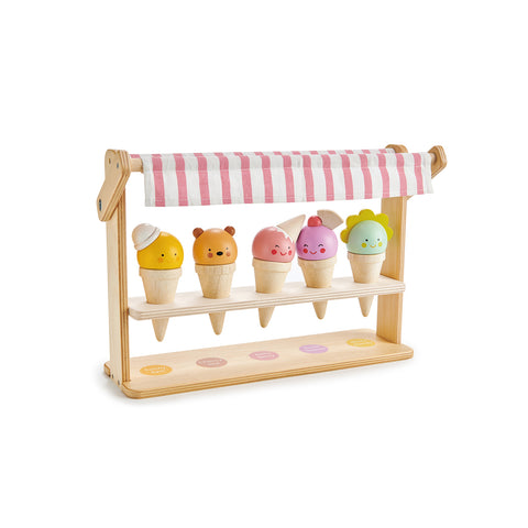 Scoops and Smiles Ice Cream Set by Tender Leaf Toys, available at Bobby Rabbit. Free UK Delivery over £75