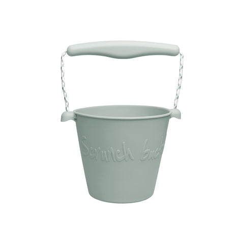 Scrunch Kids Bucket Outdoor Toy - Sage Green by Scrunch Kids, available at Bobby Rabbit. Free UK Delivery over £75