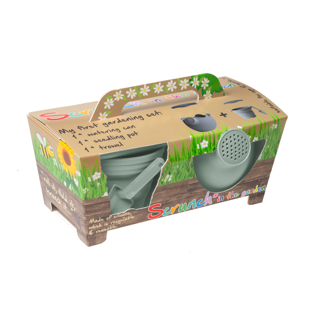 Scrunch Kids My First Gardening Set Outdoor Toy - Sage by Scrunch Kids, available at Bobby Rabbit. Free UK Delivery over £75