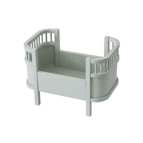 Dolls Bed - Mist Green by Sebra, available at Bobby Rabbit. Free UK Delivery over £75
