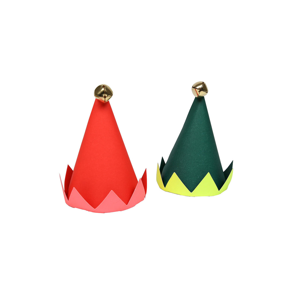 Mini Elf Party Hats (set of 8) by Meri Meri, available at Bobby Rabbit.
