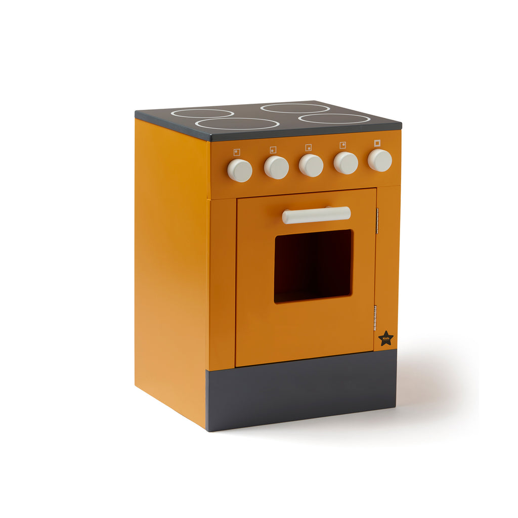Stove Play Kitchen - Mustard by Kids Concept, available at Bobby Rabbit.