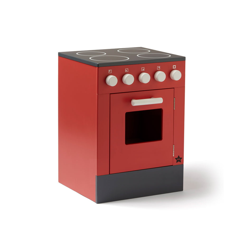 Stove Play Kitchen - Red by Kids Concept, available at Bobby Rabbit.
