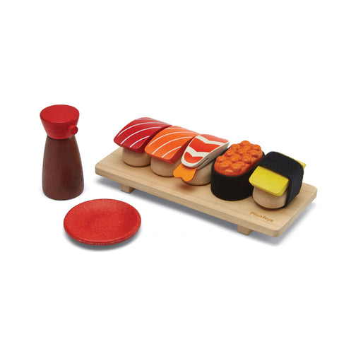 Sushi Set by Plantoys, available at Bobby Rabbit. Free UK Delivery over £75