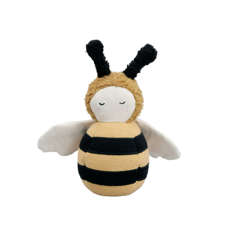 Bumble Bee Tumbler Toy by Fabelab, available at Bobby Rabbit. Free UK Delivery over £75