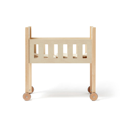 Wooden Dolls Bed by Kids Concept, available at Bobby Rabbit.