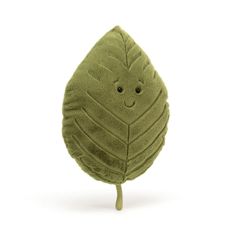 Woodland Beech Leaf Soft Toy, designed and made by Jellycat and available at Bobby Rabbit. Free UK Delivery over £75
