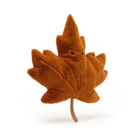 Woodland Maple Leaf Soft Toy, designed and made by Jellycat and available at Bobby Rabbit. Free UK Delivery over £75