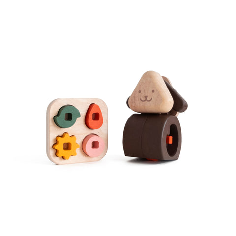 Woofy Wooden Toy by Tomata, available at Bobby Rabbit.