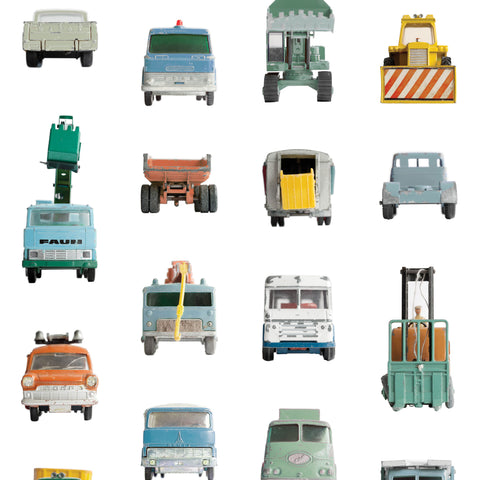 Work Vehicles Wallpaper by Studio Ditte, available at Bobby Rabbit. Free UK Delivery over £75