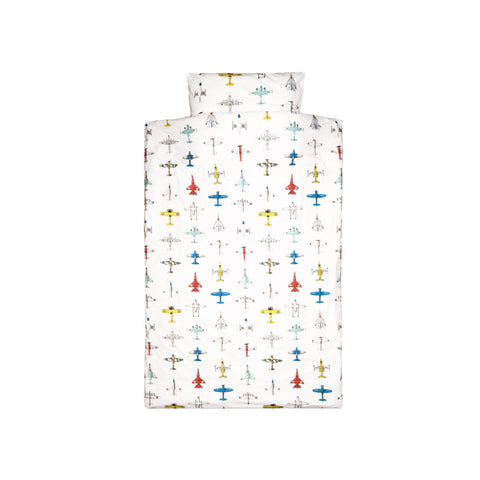 Airplanes Children's Bedding Set by Studio Ditte, available at Bobby Rabbit.