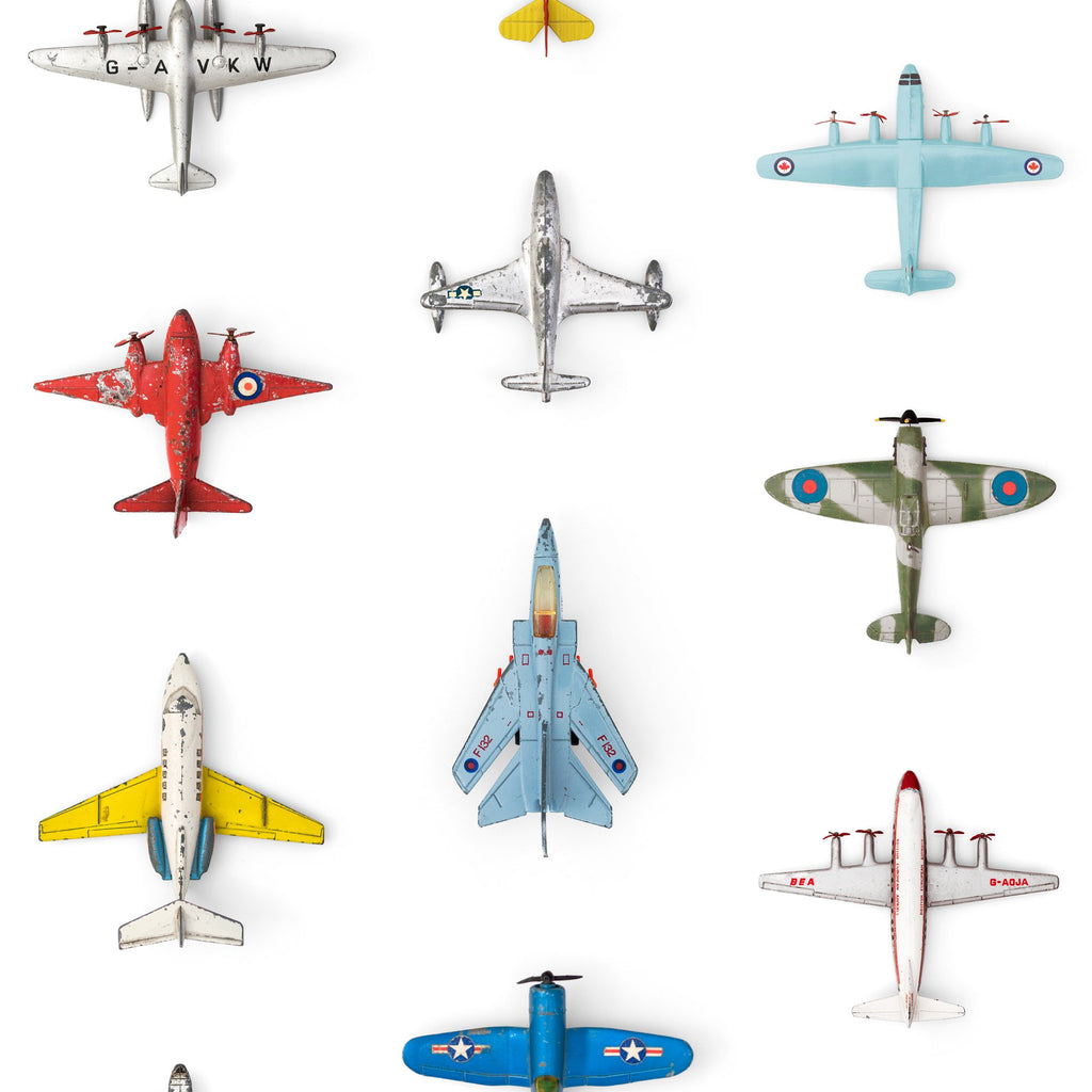 Airplanes Wallpaper by Studio Ditte, available at Bobby Rabbit.