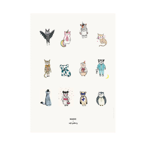 All Together Now poster for children's rooms, designed by Soft Gallery for Mado and available at Bobby Rabbit.