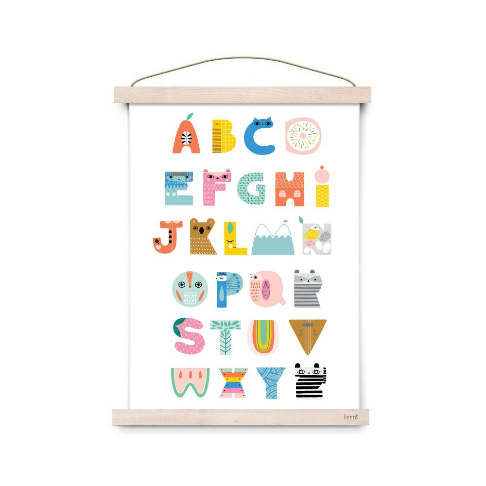 Alphabet A3 Print by Petit Monkey, available at Bobby Rabbit.