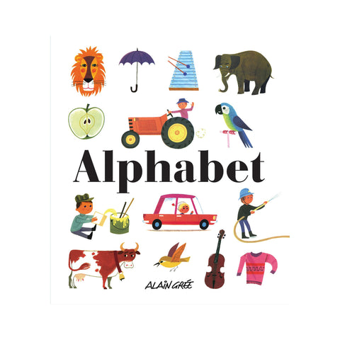 'Alphabet' book by Alain Gree, available at Bobby Rabbit.