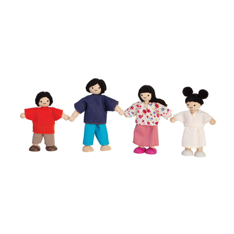 Asian Dolls House Family by Plantoys, available at Bobby Rabbit.  Free UK Delivery over £75
