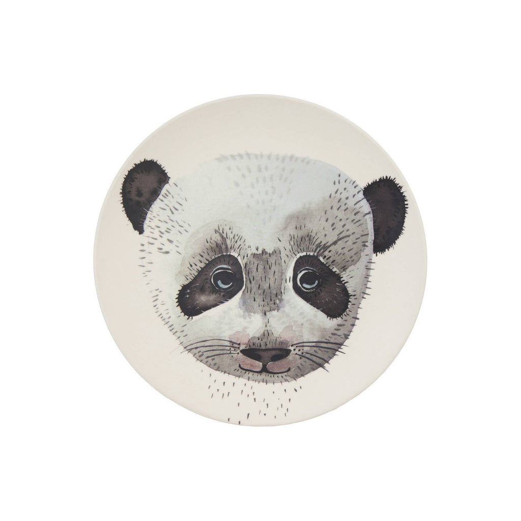 Panda Bamboo Plate by Nuukk, available at Bobby Rabbit.