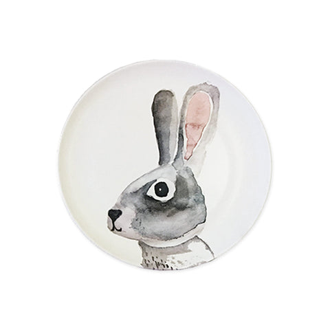 Rabbit Bamboo Plate by Nuukk, available at Bobby Rabbit.