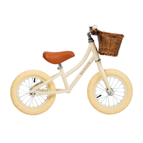 Banwood 'First Go!' Balance Bike in cream, available at Bobby Rabbit.