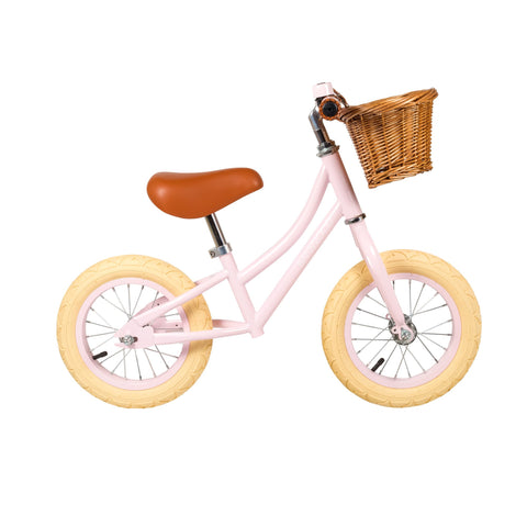 Banwood 'First Go!' Balance Bike in light pink, available at Bobby Rabbit.