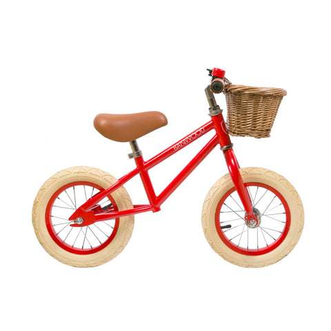 Banwood 'First Go!' Balance Bike in red, available at Bobby Rabbit.