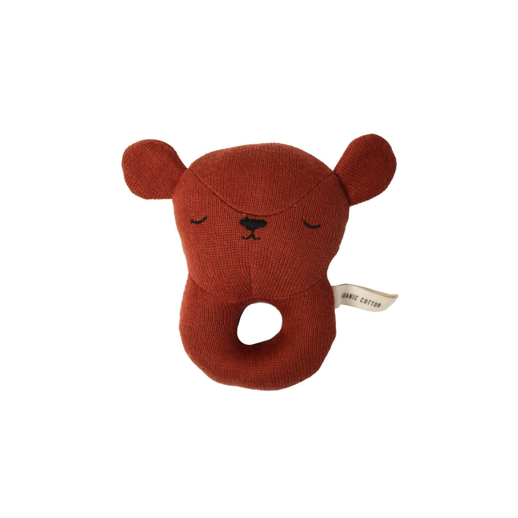 Bear Rattle Toy by Eef Lillemor, available at Bobby Rabbit.