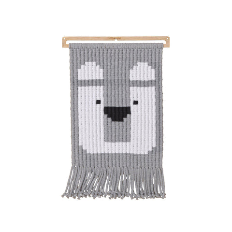 Bernard Bear Wall Hanging Children's Room Decoration by Fiberacci, available at Bobby Rabbit.