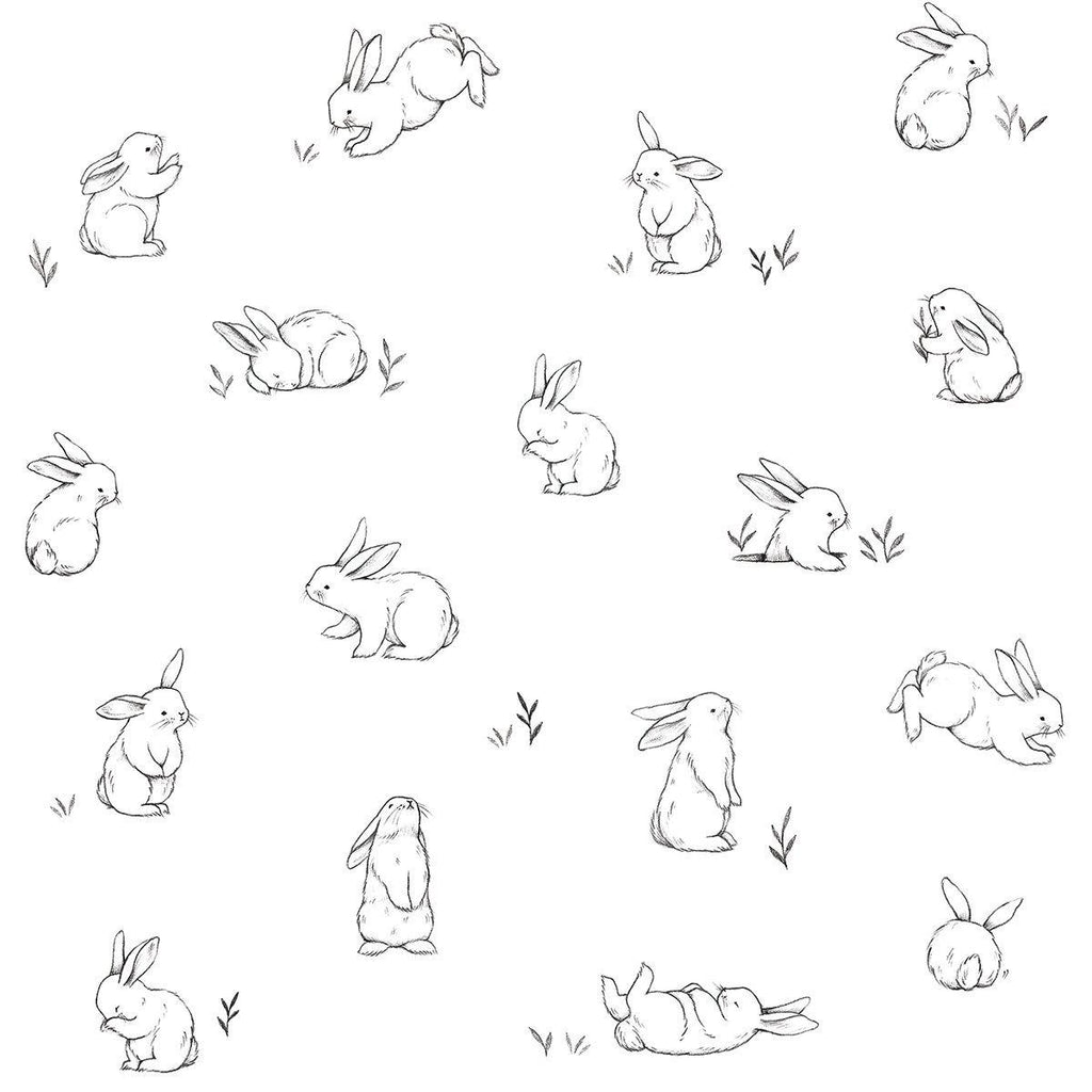 Bunnies Wallpaper by Lilipinso, available at Bobby Rabbit.