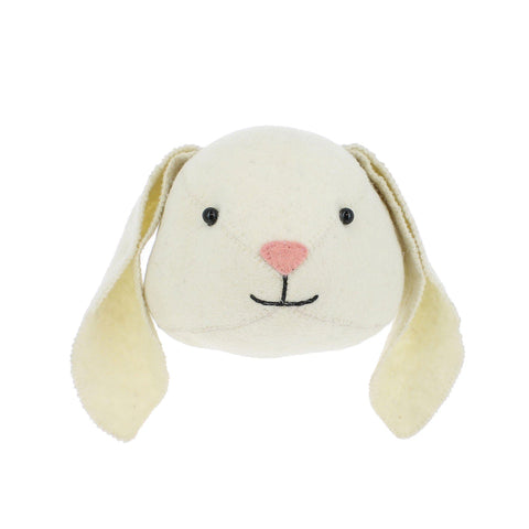 Bunny Head to hang on the wall, made by Fiona Walker England and available at Bobby Rabbit.