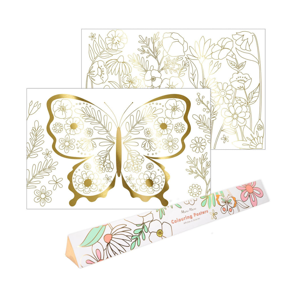 Butterfly Colouring Poster Set by Meri Meri, available at Bobby Rabbit.
