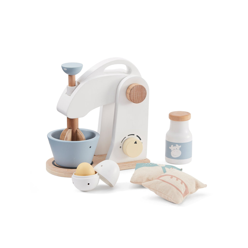 Wooden Cake Mixer Toy by Kids Concept, available at Bobby Rabbit.