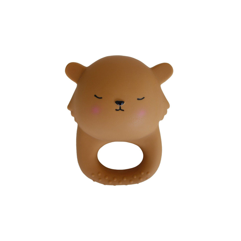 Caramel Lion Teething Toy by Eef Lillemor, available at Bobby Rabbit.