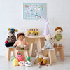 Play Table and Stools with Toys and Accessories, styled by Bobby Rabbit.