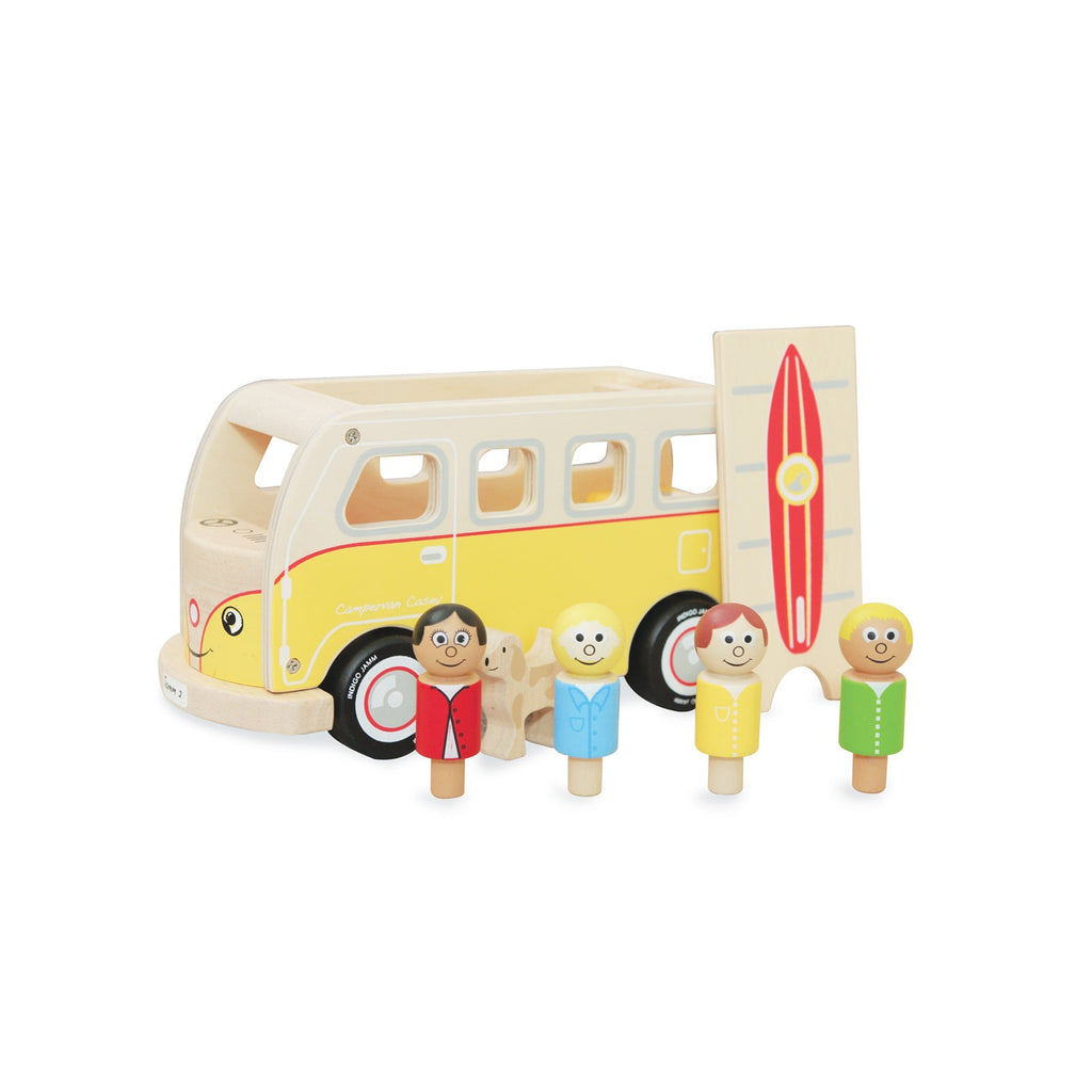 Casey Camper Van Wooden Toy by Jamm Toys, available at Bobby Rabbit.