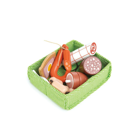 Charcuterie Crate Pretend Food Wooden Toy by Tender Leaf Toys, available at Bobby Rabbit.