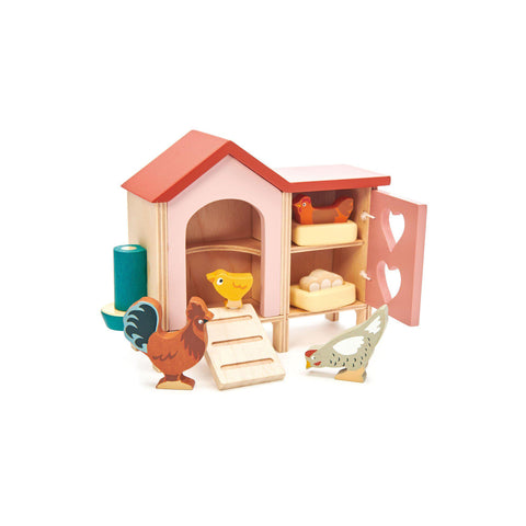 Chicken Coop Wooden Toy by Tender Leaf Toys, available at Bobby Rabbit.