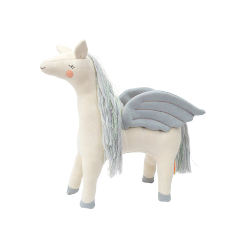 Chloe Pegasus toy cushion by Meri Meri, available at Bobby Rabbit.